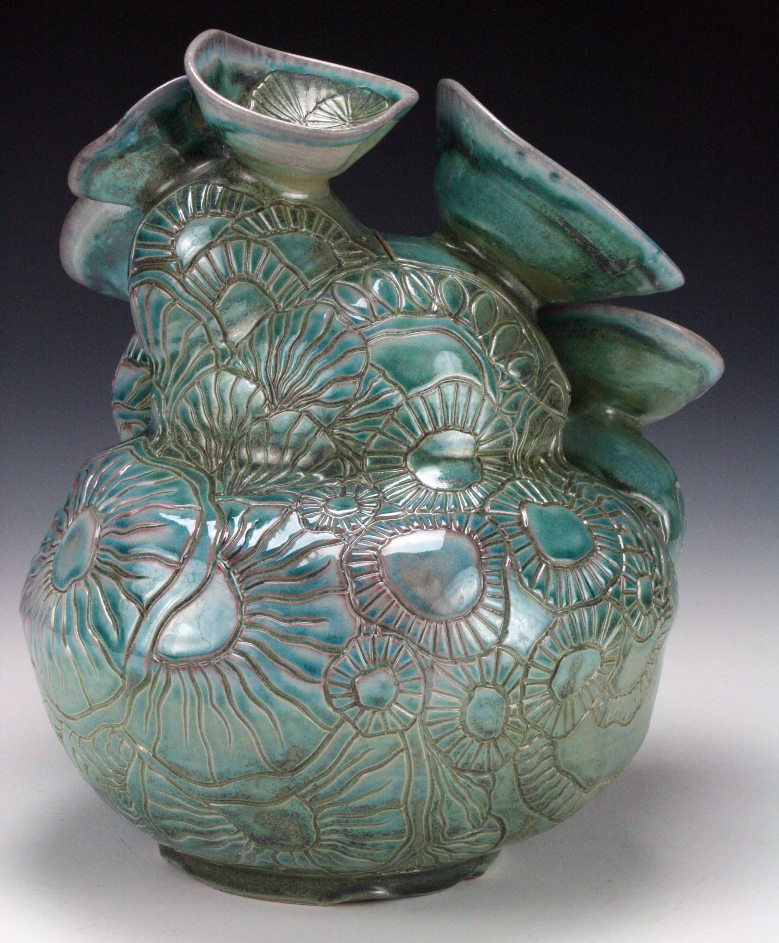 Blue Barnacle Jar (back) 2016