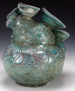 Blue Barnacle Jar (back) 2016