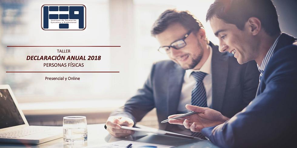 TALLER: DECLARACIÓN ANUAL 2018 PERSONAS FÍSICAS (1)