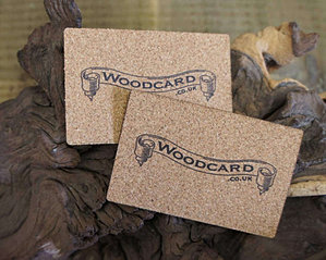 Printed cork business cards cork bus card 2 wood colourmoves