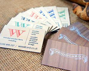 Wooden engraved printed business cards wooden colour printed business cards reheart Images