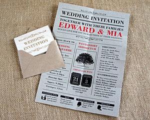 WC Folded Wedding Invitation 01
