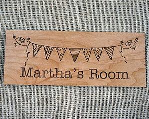 Wooden Printed & Engraved Children\'s Bedroom Door Signs