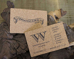 Printed cork business cards cork bus card 1 wood colourmoves
