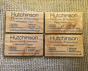 Mini wooden business cards wooden engraved business card reheart Choice Image