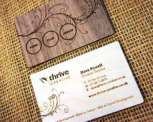 Wooden Engraved & Printed Business Cards