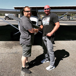 CFI Nick O. with Student Alan after his first solo!