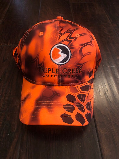 Orange Kryptek Camo Hat