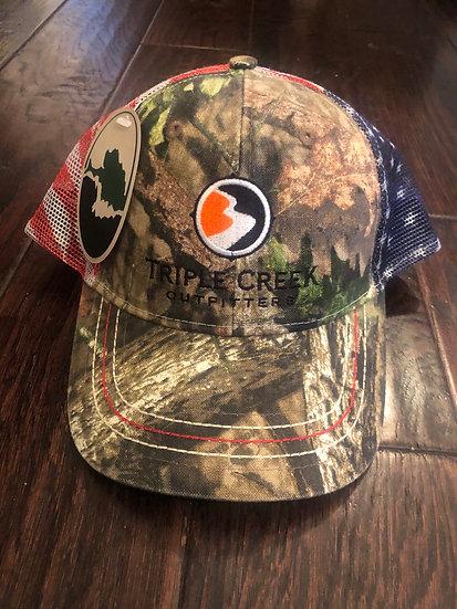 American Flag Mesh Hat