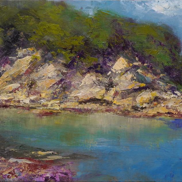 玄界灘の崖