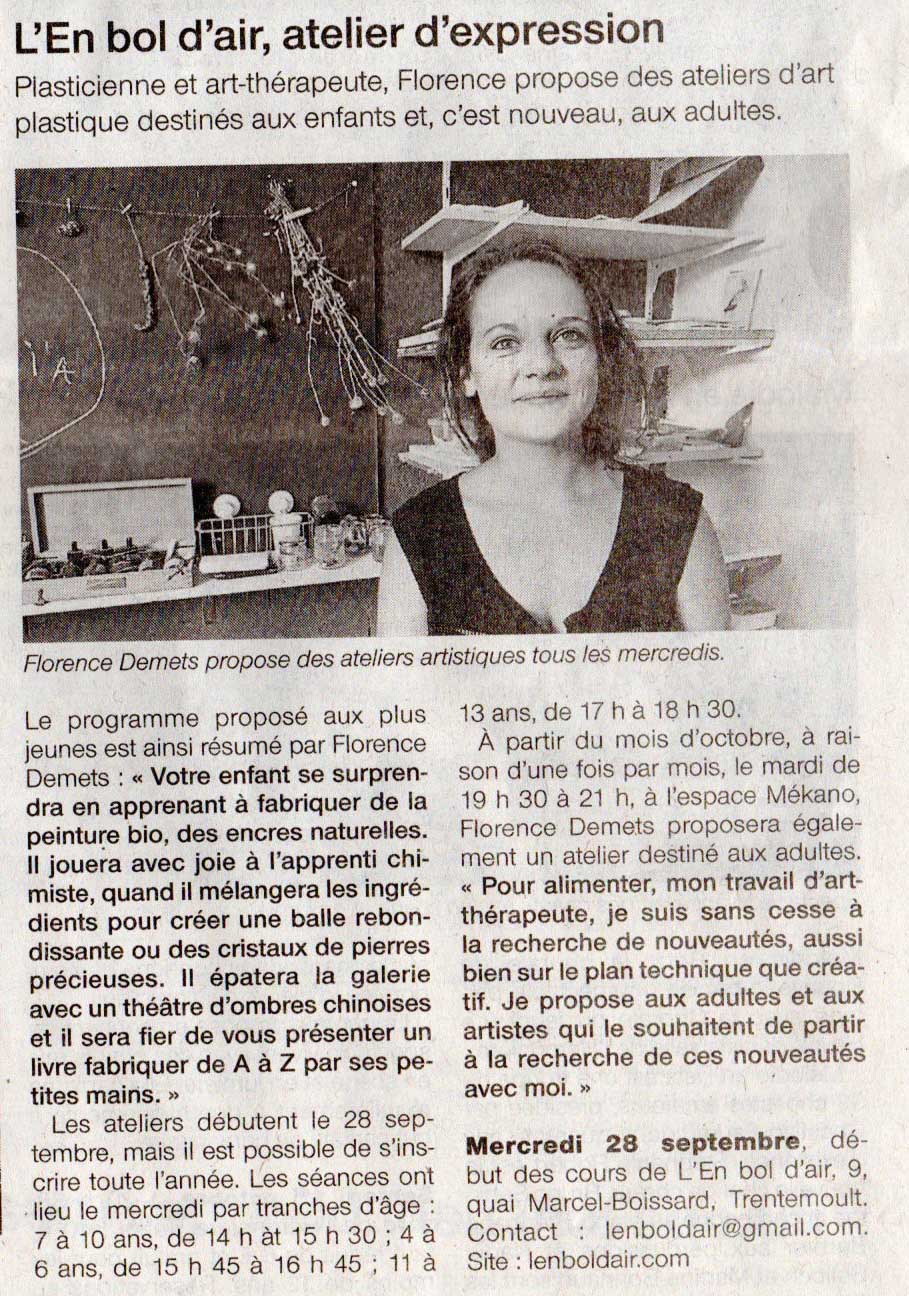 article_lenboldair_ouest_france_atelier_art_plastique_nantes_rezé_2016