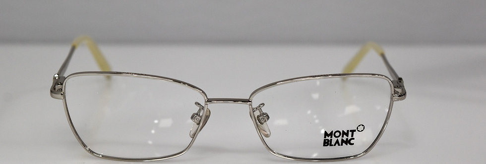 Mont Blanc Women's Silver Ivory Rx Optical MB378 016 53-16-135  Eyeglasses