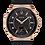 Thumbnail: Bulova Curv Black Rubber Rose Gold IP SS Diamond 98R239 $995 Watch