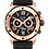 Thumbnail: Bulova Marine Star Black Rose Gold SS Black Dial Chronograph 98B104 $525 Watch