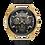 Thumbnail: Bulova Curv Black Leather Gold IP SS Chronograph 97A143 $995 Watch