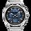 Thumbnail: Bulova Curv Stainless Steel Blue Dial Chronograph 96A205 $1095 Watch