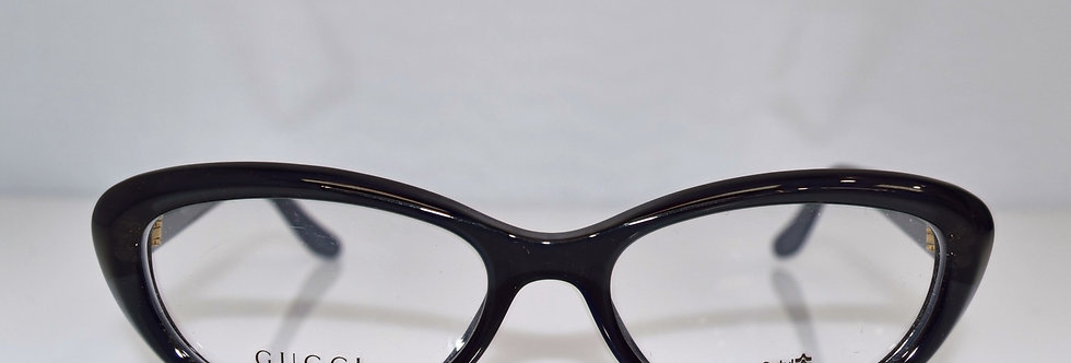 Gucci Cat Eye Blue Gold Optical 52-16-140 GG3566 W7X Eyeglasses