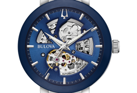 Bulova Futuro Automatic Skeleton Stainless Steel 96A204 $525 Watch