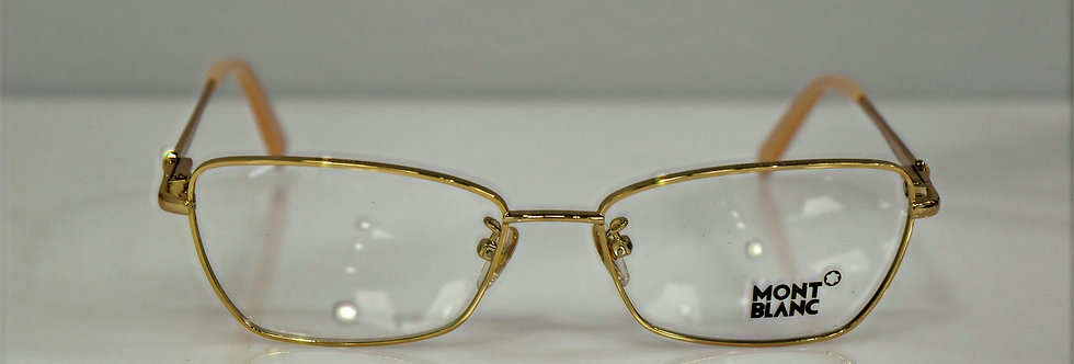 Mont Blanc Women's Gold Beige Rx Optical MB378 029 53-16-135  Eyeglasses