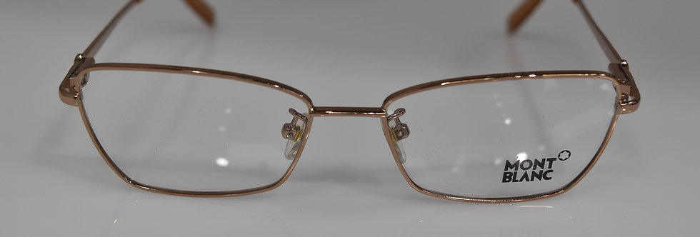 Mont Blanc Women's Rose Gold Honey Rx Optical MB378 034 53-16-135  Eyeglasses