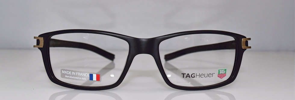 Tag Heuer Authentic Track S Black TH7605 008 56-16-145 Eyeglasses