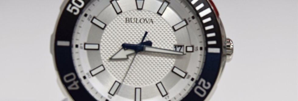 Bulova Stainless Steel Silver Dial 98B349 $450 Watch