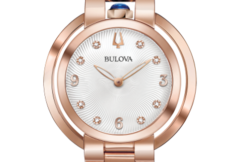 Bulova Rubaiyat Rose Gold SS RG WhiteDiamond 97P130 Watch