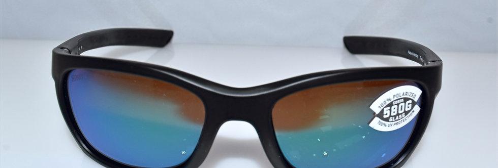 Costa Del Mar Trevally Black 580G Glass Lenses Polarized GT11 OGMGLP Sunglasses