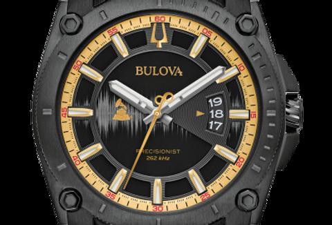 Bulova Special GRAMMY® Precisionist Black Leather 98B293 $750 Watch