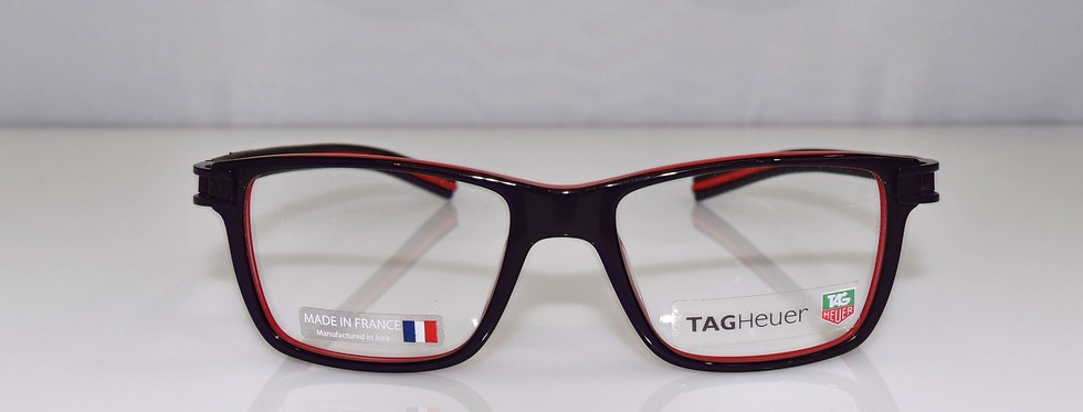 Tag Heuer Authentic Track S Black Red Small TH7603 001 50-17-145 Eyeglasses
