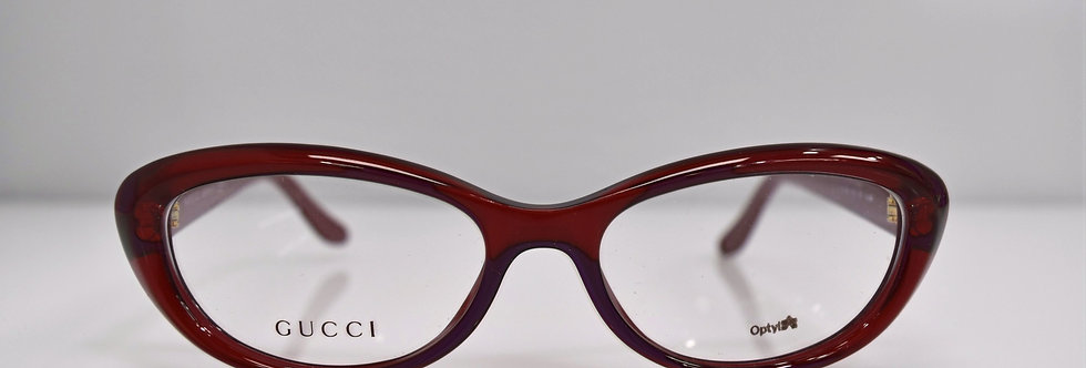 Gucci Cat Eye Red Gold Optical 52-16-140 GG3566 WC7 Eyeglasses
