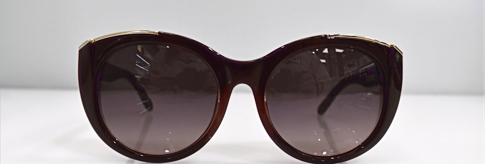 Chloe Dalia Bordeaux Gold Oversized CE660S 603 55-19-140 Sunglasses