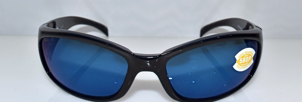 Costa Del Mar Hammerhead Black Blue 580P Polarized HH11 OBMP Sunglasses