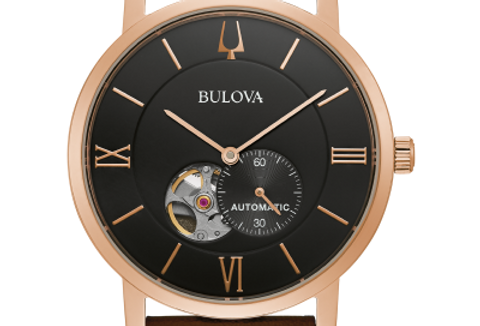Bulova American Clipper Automatic Brown Leather 97A155 3 $395 Watch