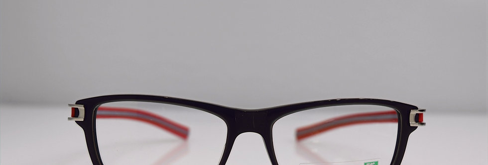 Tag Heuer Authentic Track S Gray Red TH7605 004 56-16-145 Eyeglasses