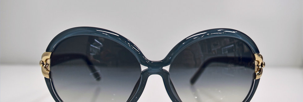 Chloe Blue Gold Oversized CE636S 444 61-17-135 Sunglasses