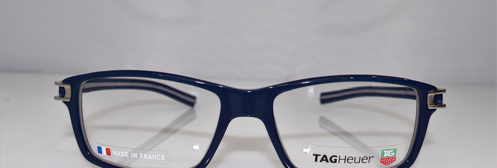 Tag Heuer Authentic Track S Blue Gray TH7601 003 55-17-145 Eyeglasses