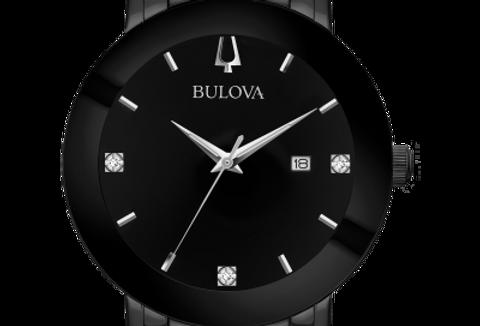 Bulova Futuro Black SS Diamond 98D144 $425 Watch