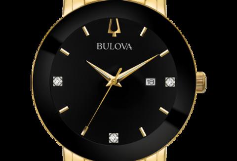 Bulova Futuro Yellow Gold SS Diamond 97D116 $425 Watch