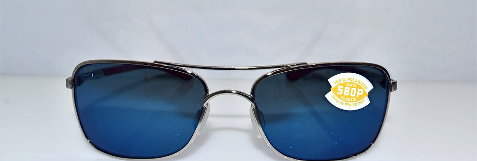 Costa Del Mar Palapa Silver Red 580P Lenses Polarized AP83 OBMP Sunglasses