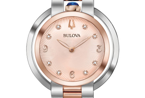 Bulova Rubaiyat Two Tone SS RG Dial Diamond 98P174 Watch