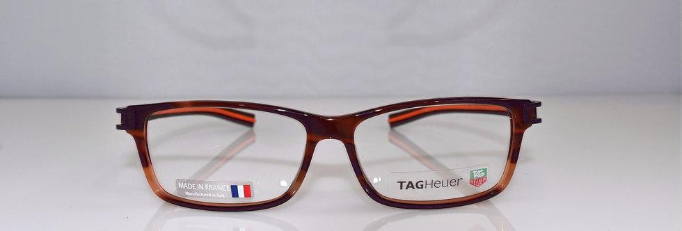 Tag Heuer Authentic Track S Havana Orange TH7604 002 56-14-145 Eyeglasses