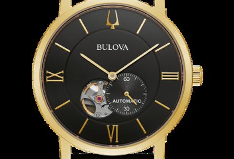 Bulova American Clipper Automatic Black Leather 97A154 3 $395 Watch