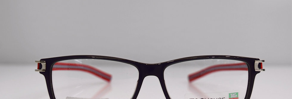 Tag Heuer Authentic Track S Gray Red TH7604 004 56-14-145 Eyeglasses