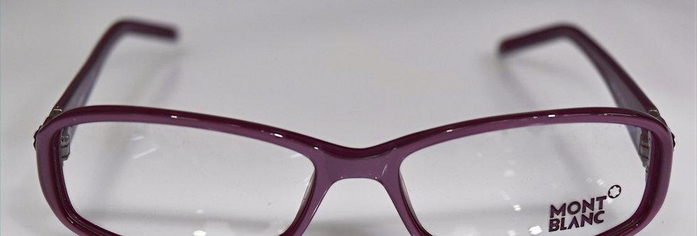 Mont Blanc Women's Pearl Purple Crystals Optical MB343 081 54-15-135  Eyeglasses