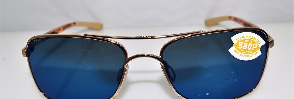 Costa Del Mar Palapa Gold Blue 580P Lenses Polarized AP64 OBMP Sunglasses