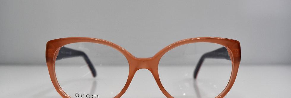 Gucci Peach Orange Blue Optical 53-17-135 GG3558 L5F Eyeglasses