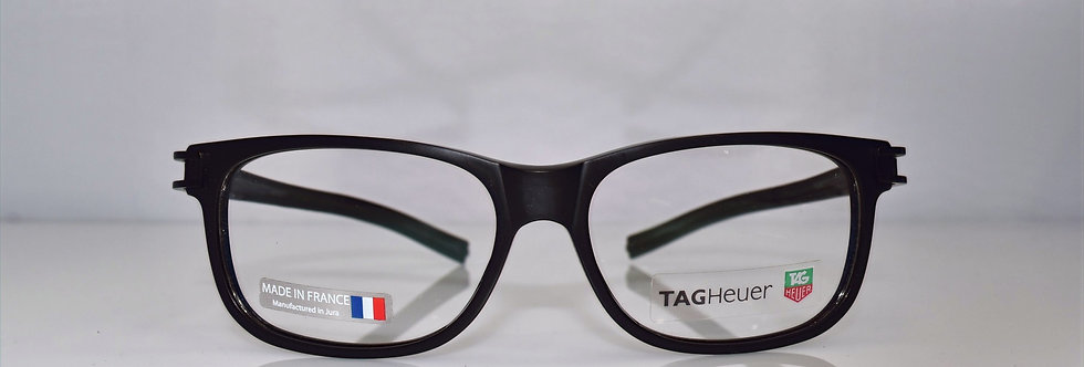 Tag Heuer Authentic Track S All Black TH7607 007 56-15-145 Eyeglasses