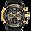 Thumbnail: Bulova Marine Star Black Gold SS Black Dial Chronograph 98B278 $525 Watch