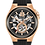 Thumbnail: Bulova Maquina Automatic Skeleton RG Black Rubber 98A177 $575 Watch